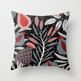 Winter scene with summer fruits Throw Pillow