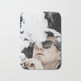 John F Kennedy Cigar and Sunglasses Bath Mat