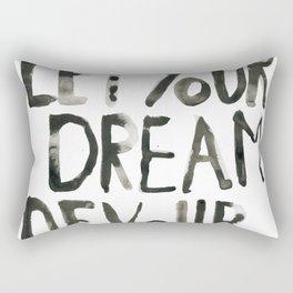 Handwritten inspirational quote Rectangular Pillow