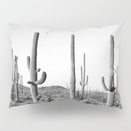 Grey Cactus Land Pillow Sham
