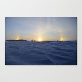 Winter Sundogs 1 Canvas Print