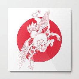 Karasu Tengu Metal Print