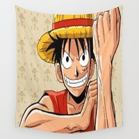 one piece Wall Tapestries featuring One piece by Duitk