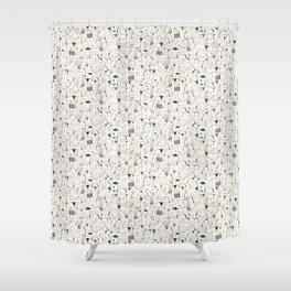 Watercolour Sheep Shower Curtain