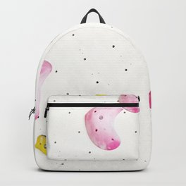 Geometric abstract free climbing bouldering holds white minimal pink Backpack
