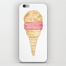 Watercolour Illustrated Ice Cream - Peony Pleasure iPhone & iPod Skin
