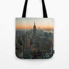 New York Skyline - Manhattan Night Tote Bag