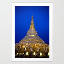 Shwedagon Pagoda, Yangoon Myanmar Art Print
