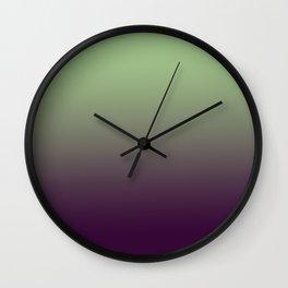 Modern mint green purple ombre pattern Wall Clock