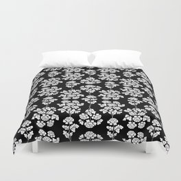 Floral pattern black Duvet Cover