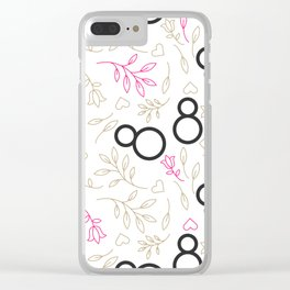Womens day line style Clear iPhone Case
