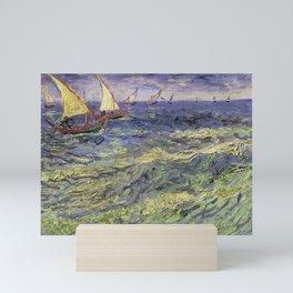 Vincent van Gogh's Seascape Near Les Saintes-Maries-de-la-Mer Mini Art Print