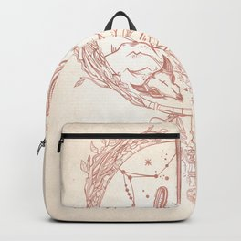 Desert Cactus Dreamcatcher Rose Gold Paper Backpack