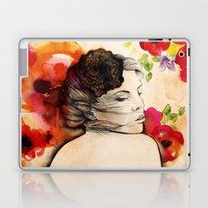 Lucy in flower fields Laptop & iPad Skin