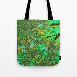 Green Fractal Tote Bag