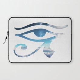 Eye of Horus Sky Background Laptop Sleeve
