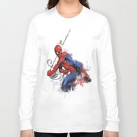 spider man Long Sleeve T-shirts featuring Spider-Man  by Isaak_Rodriguez
