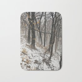 Winter at the park Bath Mat
