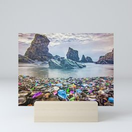 MacKerricher Bottle Sea Glass Beach, California Portrait Mini Art Print