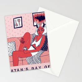 Satan's Day Off Stationery Cards