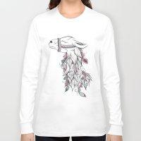 llama Long Sleeve T-shirts featuring Llama by LouJah