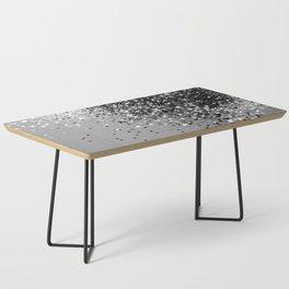 Sparkling Silver Gray Lady Glitter #1 #shiny #decor #art #society6 Coffee Table