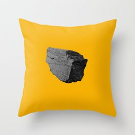 Yellow Boulder Throw Pillow