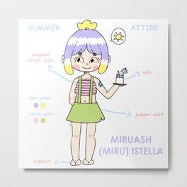 MIRU (OC) SUMMER ATTIRE  Metal Print
