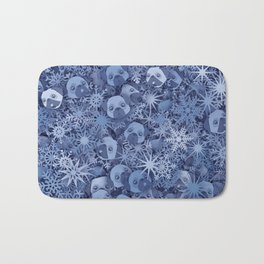 Snow pugs Bath Mat