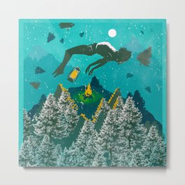 FLOATING FOREST BLUE Metal Print