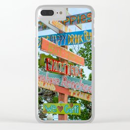Island Directions Clear iPhone Case