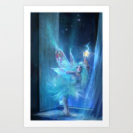 The Blue Fairy Art Print