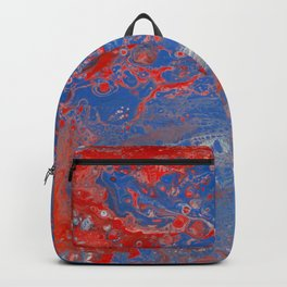 Dirty Acrylic Pour Painting 13, Fluid Art Reproduction Abstract Artwork Backpack