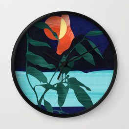 Darkness Mountains and the Moon #art print#society6 Wall Clock