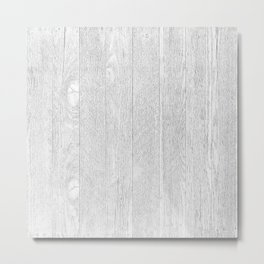 Whitewashed wood Metal Print