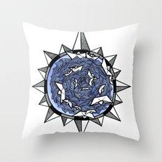 Wind rose Throw Pillow