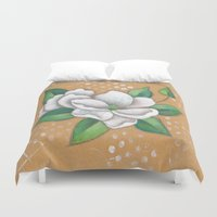 magnolia Duvet Covers featuring Magnolia by Judy Skowron