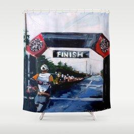 Finish Line Shower Curtain