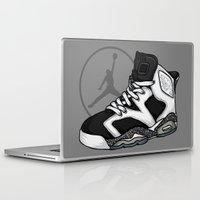 air jordan Laptop & iPad Skins featuring Jordan 6 (Oreo) by Pancho the Macho