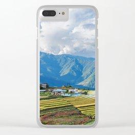 Farm in Bhutan eastern mountains Clear iPhone Case