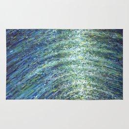 Shimmerin Ocean Wave Reflections Rug