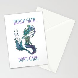 Mermaid Beach Hair Don't Care Stationery Cards