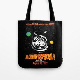 El Chango Espacial Grindhouse Poster Tote Bag