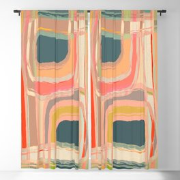 Abstract Windows Blackout Curtain