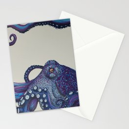 Purple Octo Stationery Cards