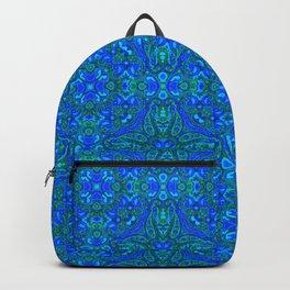 Moroccan Blues Tile Pattern Backpack