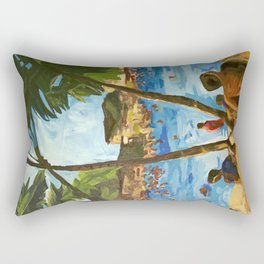 """Welcome to Streets Beach"" Rectangular Pillow"