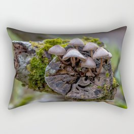 The mushroom family Rectangular Pillow