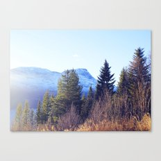 Närvik Mountains and Forest Canvas Print