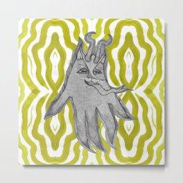 Krampus squidcat Metal Print